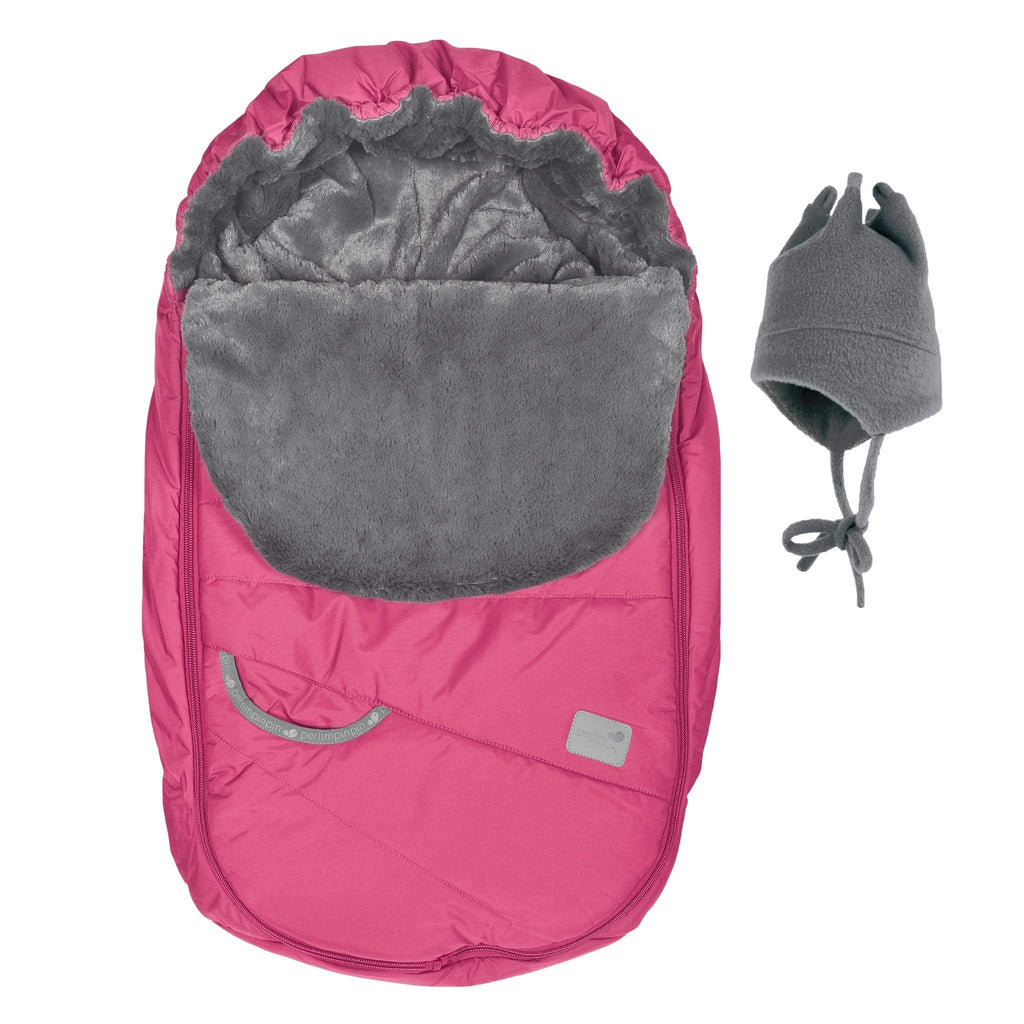 Baby car seat cover for Winter - pink