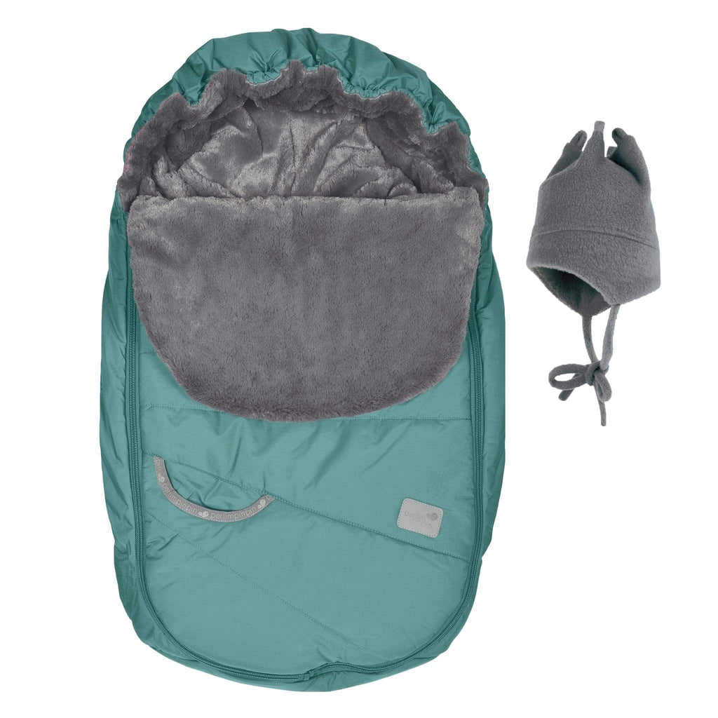 Baby car seat cover for Winter - teal
