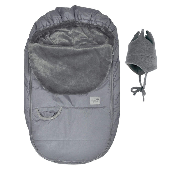 Baby car seat cover for Winter - grey