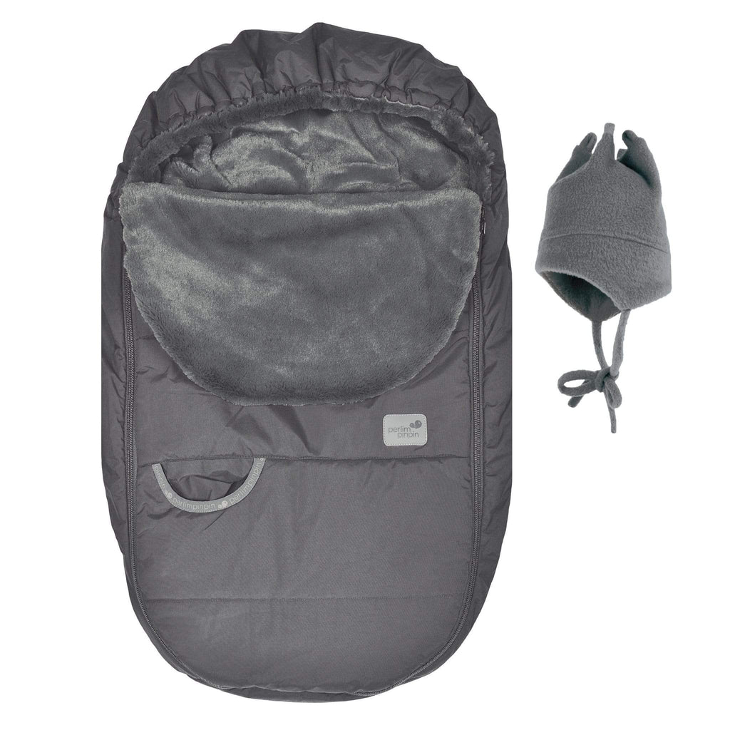 Baby car seat cover for Winter - charcoal