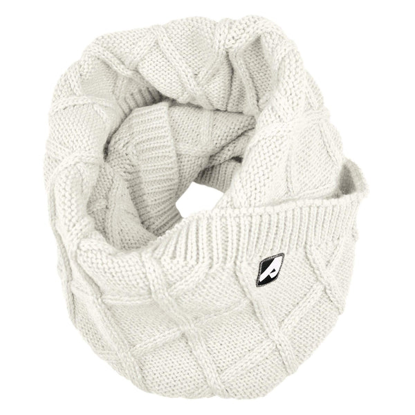 Knitted infinity scarf - white