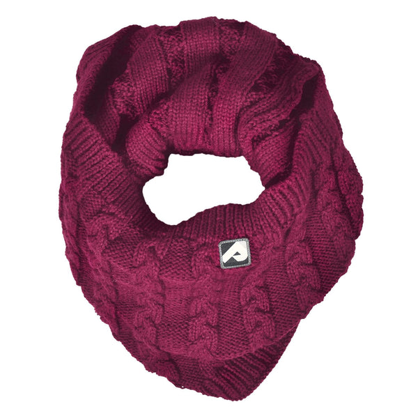 Knitted infinity scarf - cassis