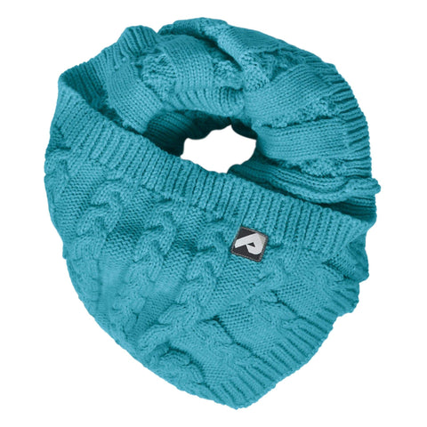 Knitted infinity scarf - emerald