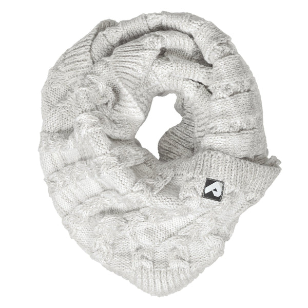 Knitted infinity scarf - gray