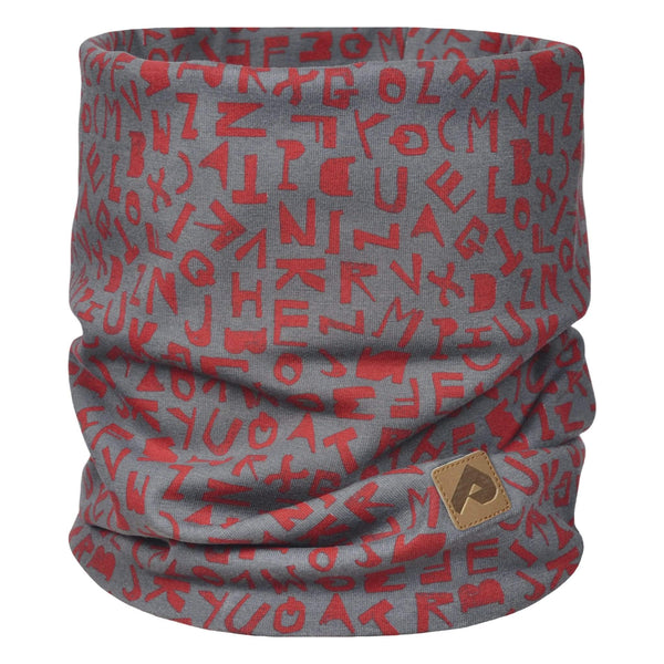 Cotton jersey neck warmer - Red alphabet