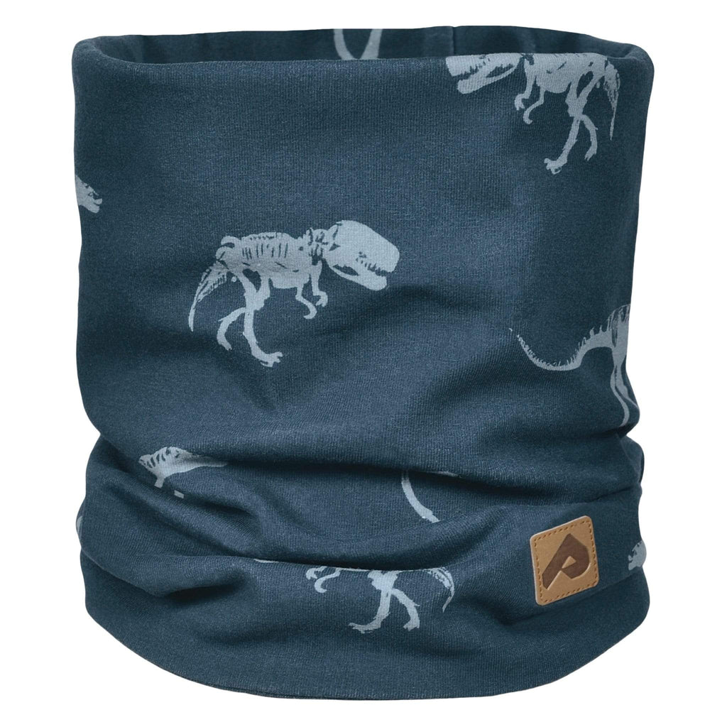 Cotton jersey neck warmer - Navy dinos