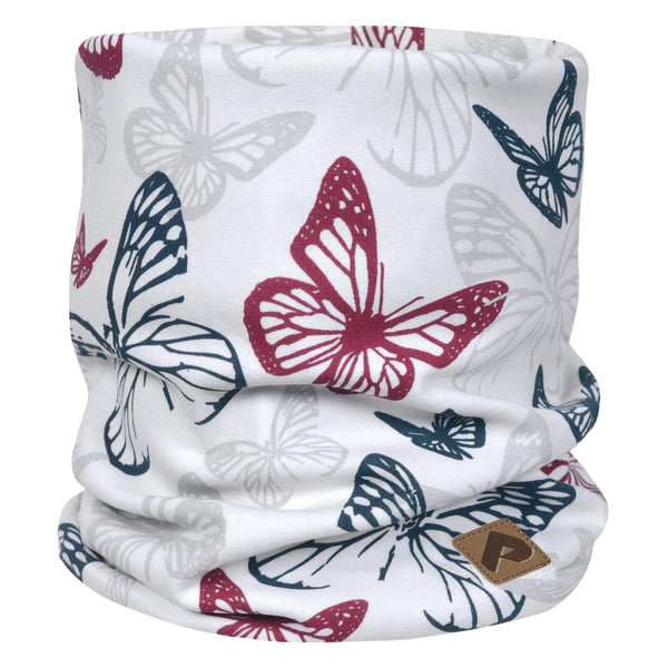 Cotton jersey neck warmer - Raspberry butterfly