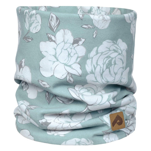 Cotton jersey neck warmer - Blue peony