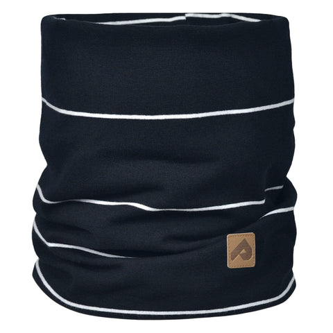 Cotton jersey neck warmer - Black stripe
