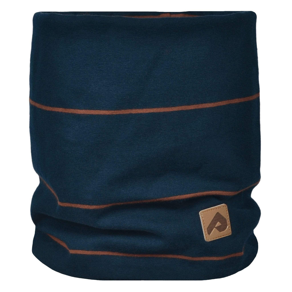 Cotton jersey neck warmer - Navy stripe