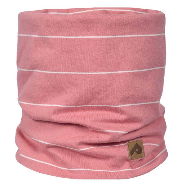Cotton jersey neck warmer - Pink stripe