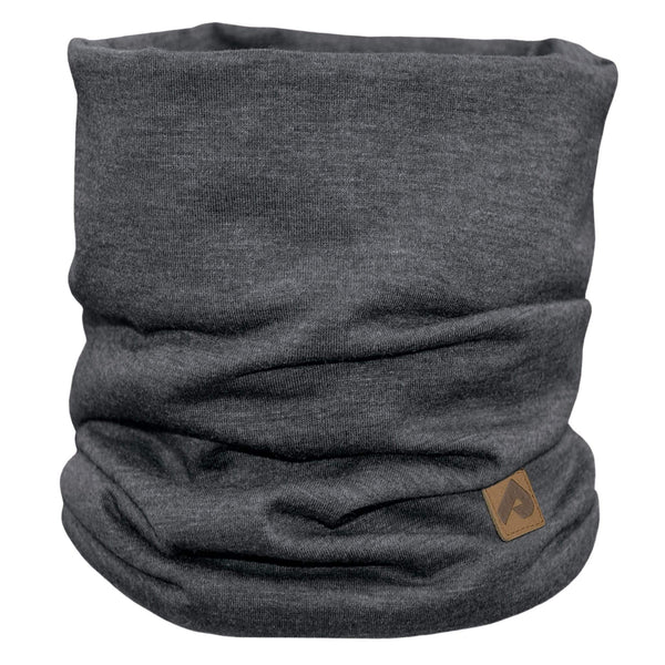 Cotton jersey neck warmer - Black chiné