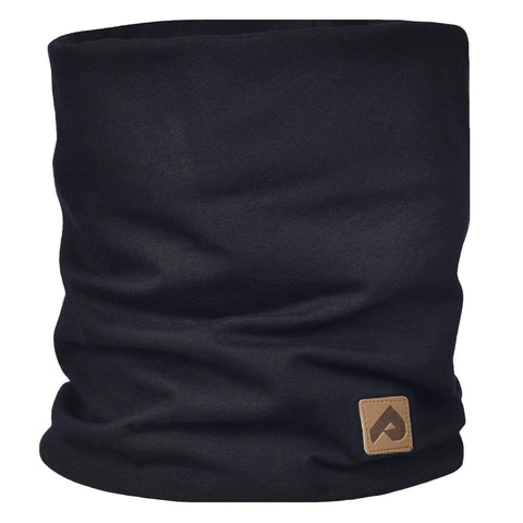 Cotton jersey neck warmer - Black