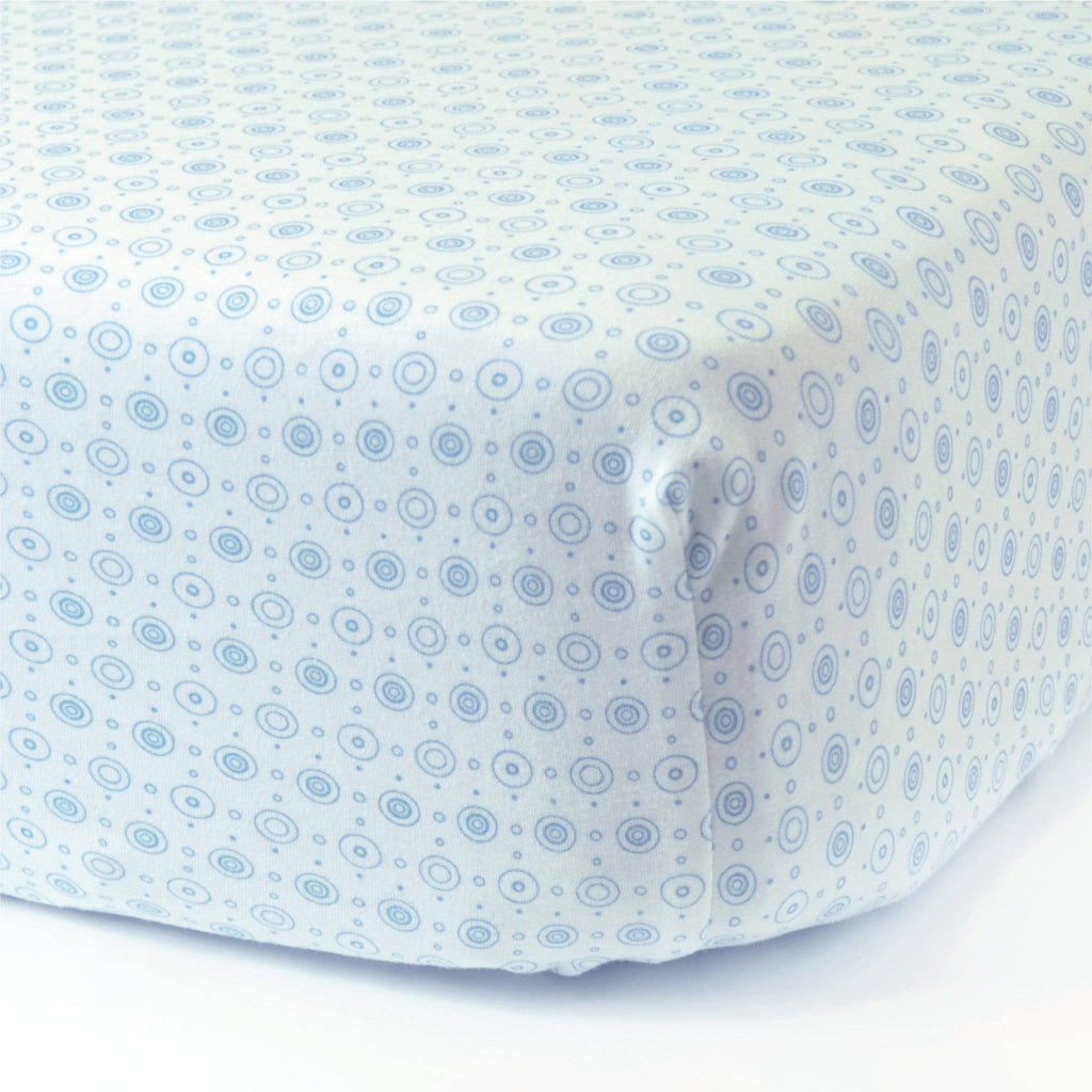 Crib cotton interlock fitted sheet