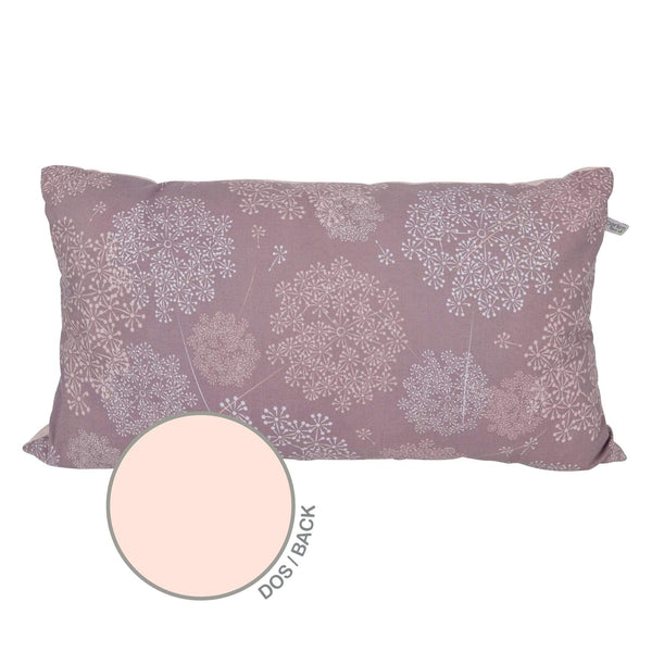 Rectangular cushion - Plum dandelions