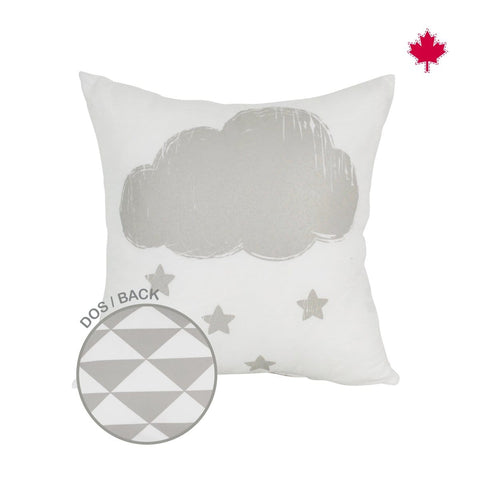 Reversible cushion - cloud print