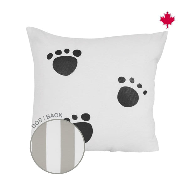 Reversible cushion - paws print