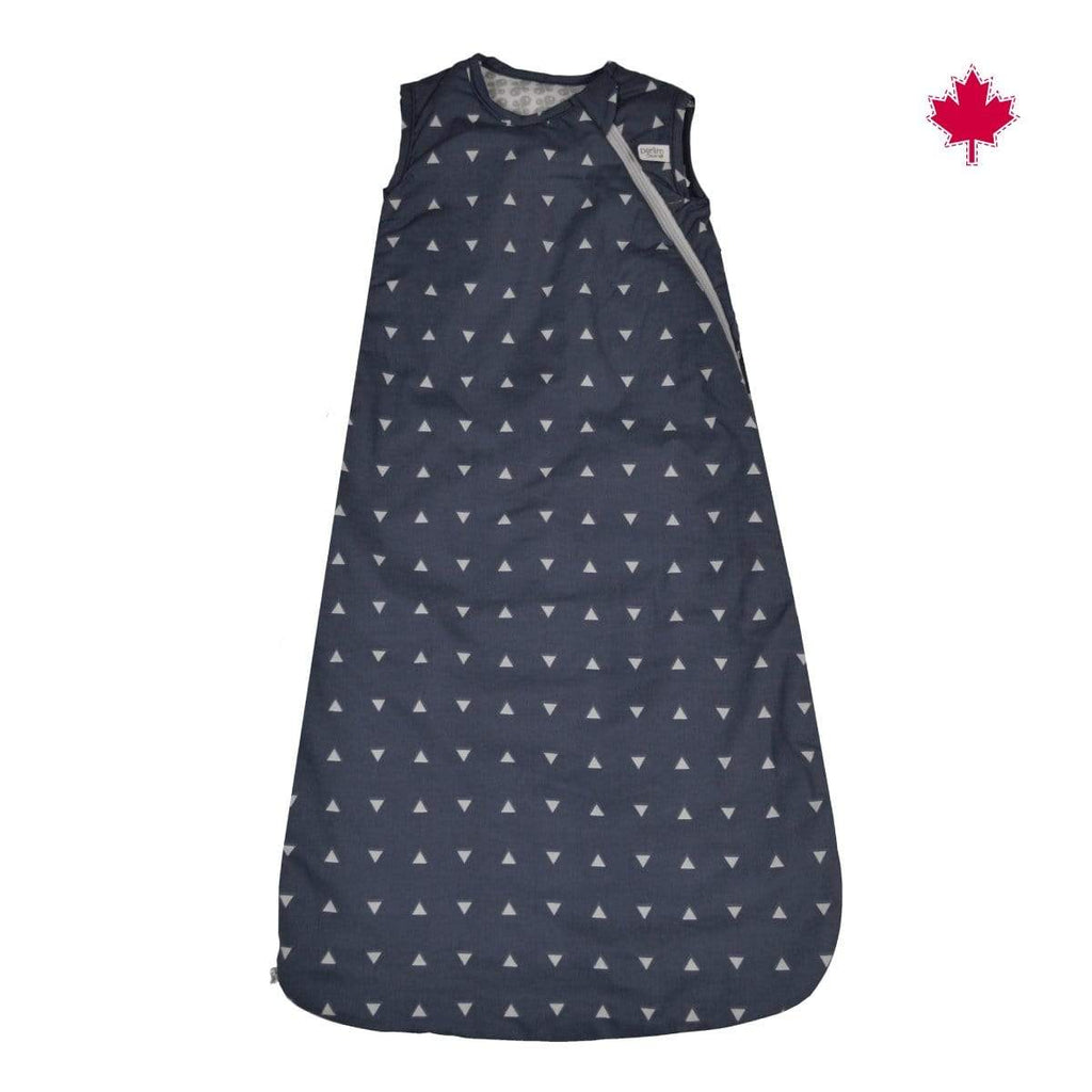 Woven cotton nap bag  - navy triangles (2 togs)