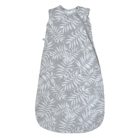 Woven cotton sleep bag  - Tropical grey (2 togs)