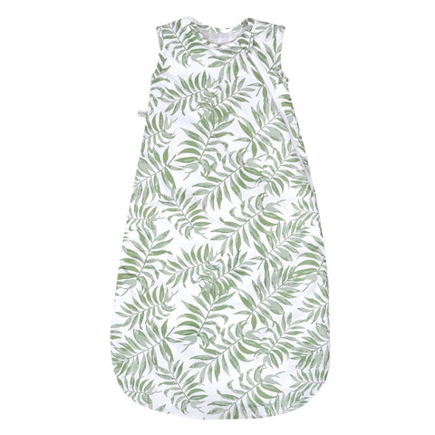 Woven cotton sleep bag  - Tropical green (2 togs)