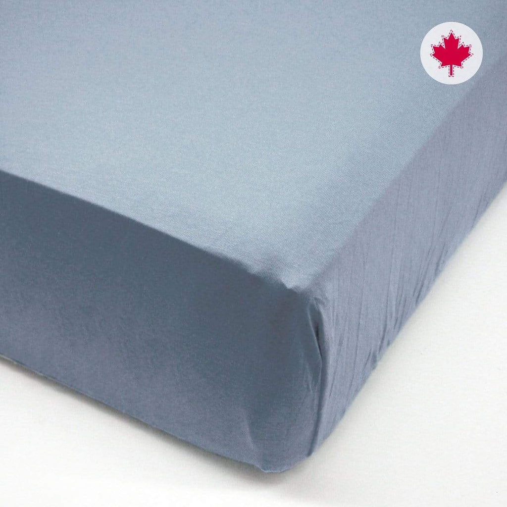 Crib FLAT sheet - denim