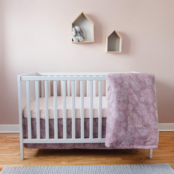 4 pieces crib set - Plum dandelions