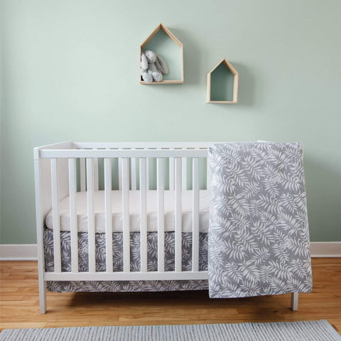 4 pieces crib set - Tropical grey