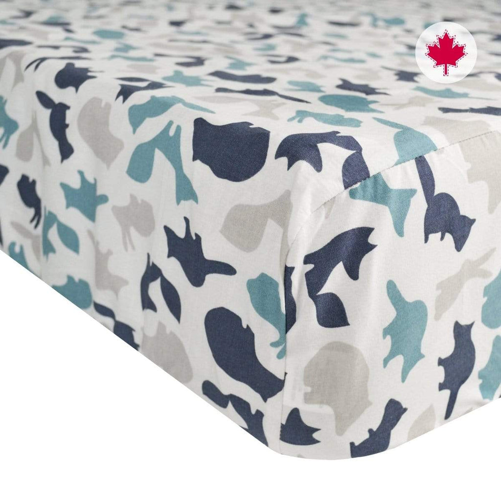 Crib fitted sheet - animals