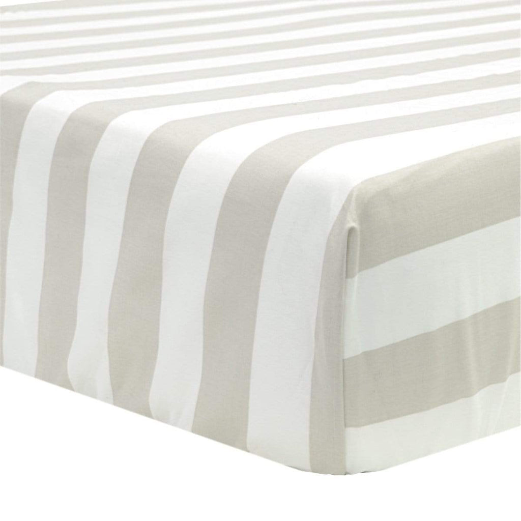 Crib fitted sheet- taupe stripes