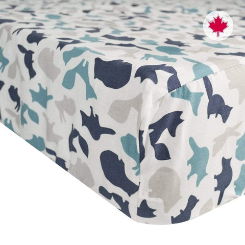 Crib flat sheet - animals