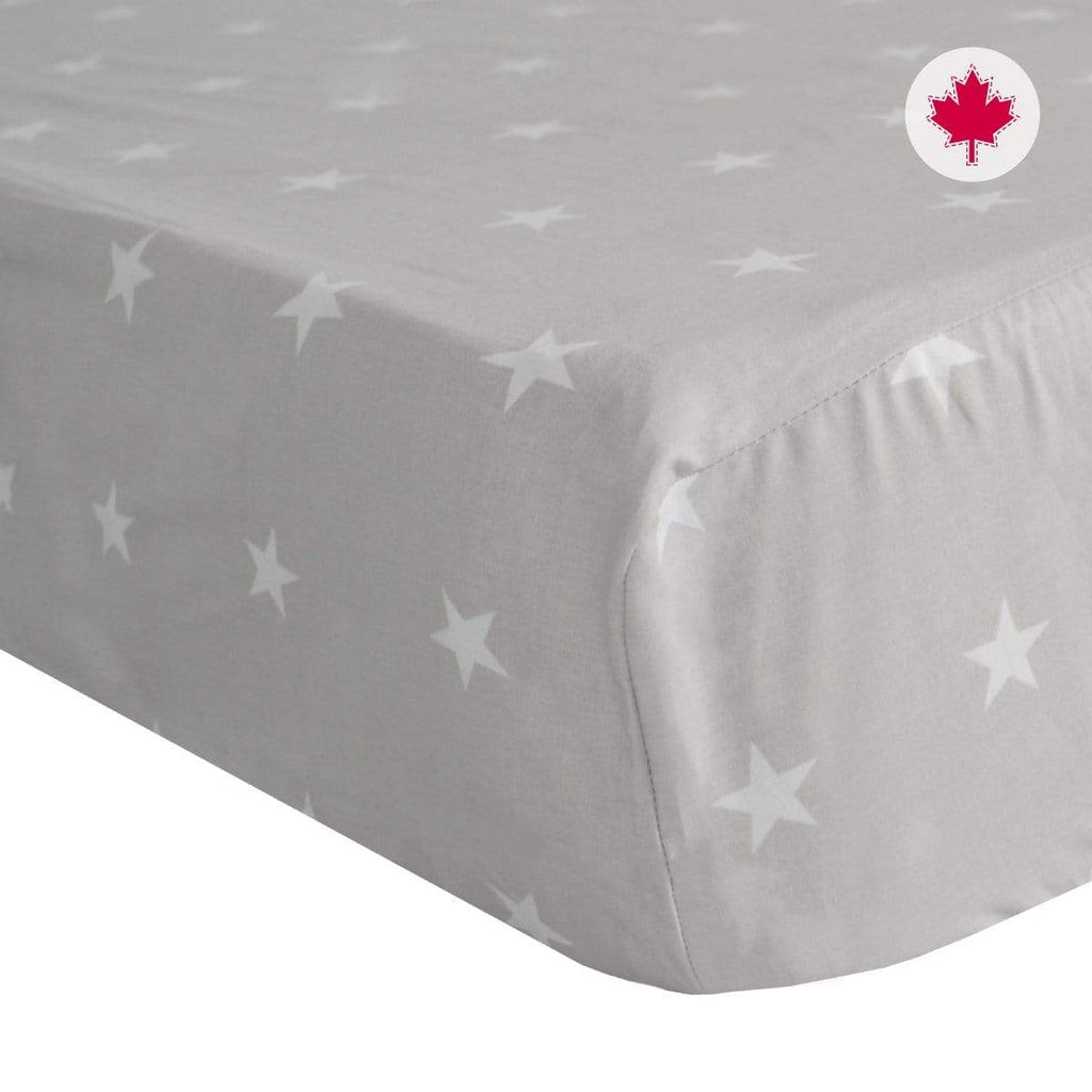 Crib fitted sheet - stars