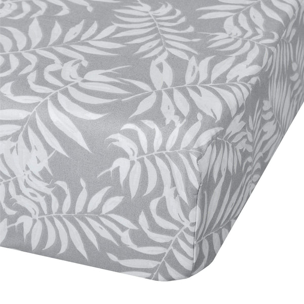 Crib fitted sheet - Tropical grey