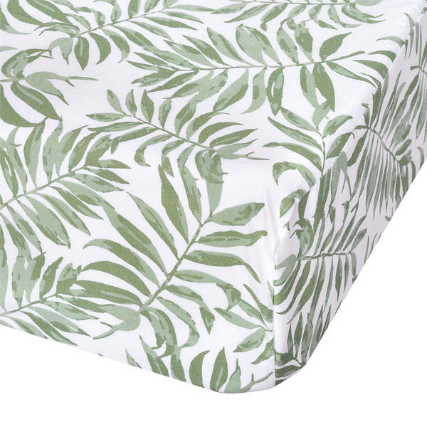 Crib fitted sheet - Tropical green