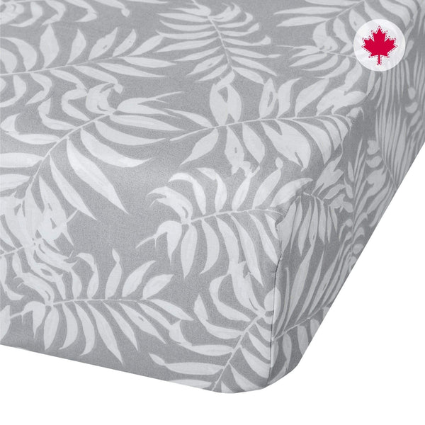 Crib flat sheet - Tropical grey