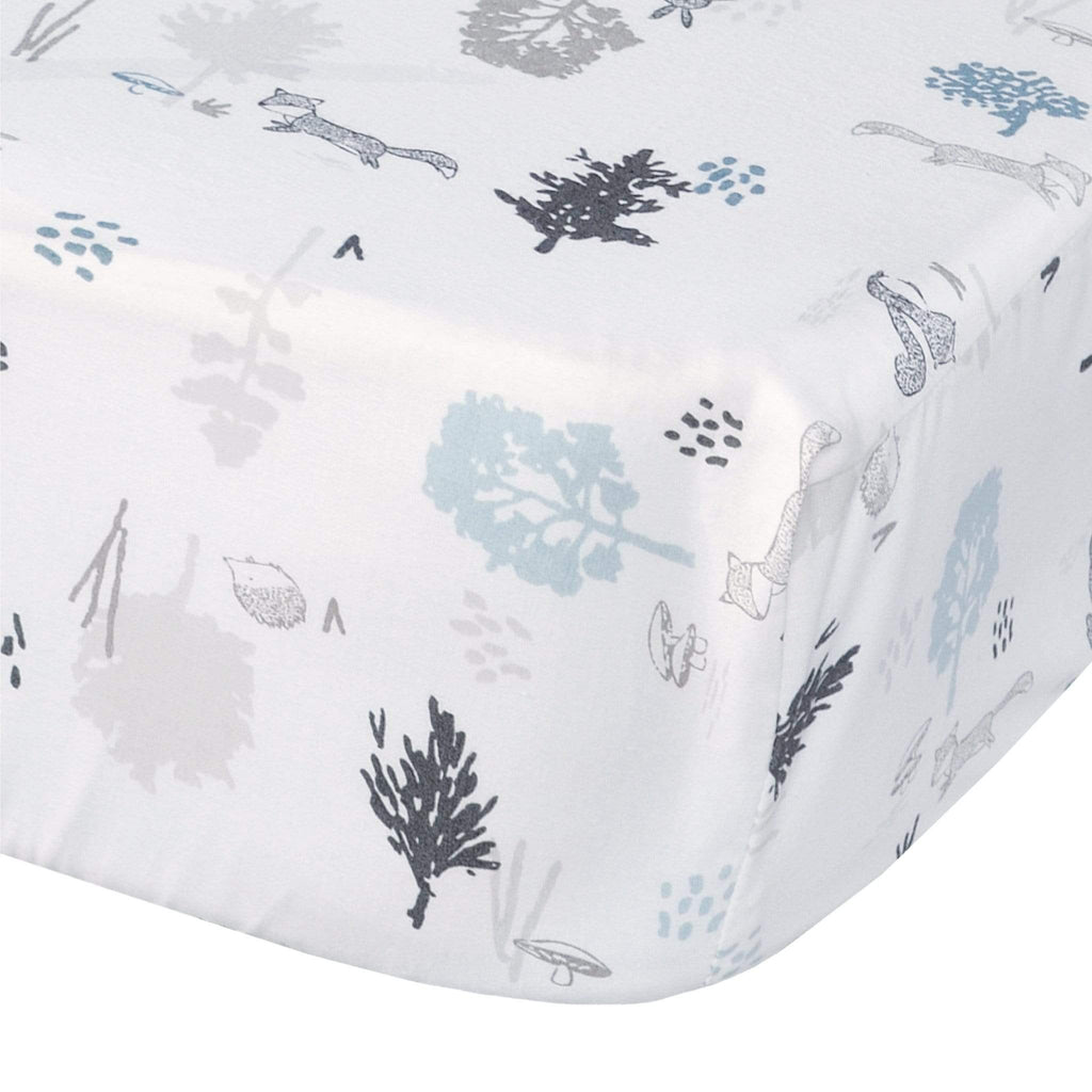 Crib fitted sheet - forest