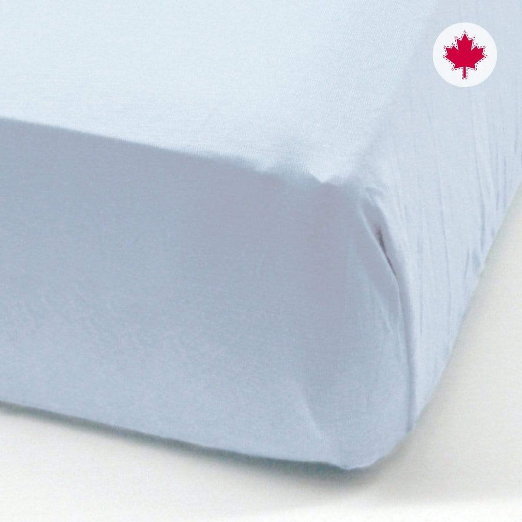 Crib fitted sheet - bleu