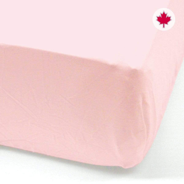 Crib fitted sheet - rose
