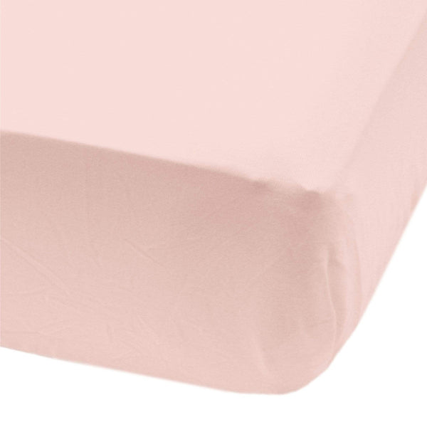 Crib fitted sheet - Npink
