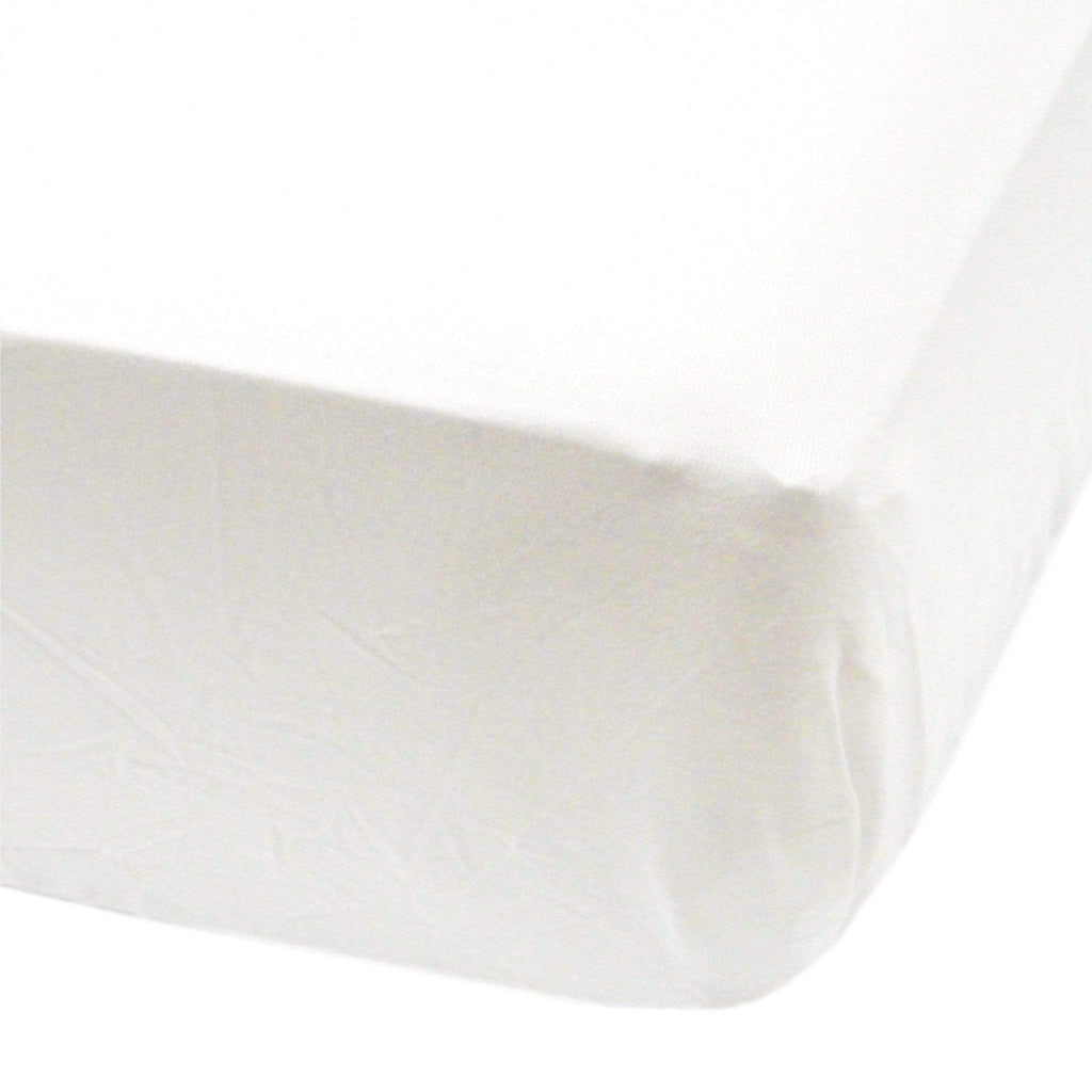 Crib fitted sheet - white