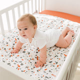 Crib fitted sheet - rust
