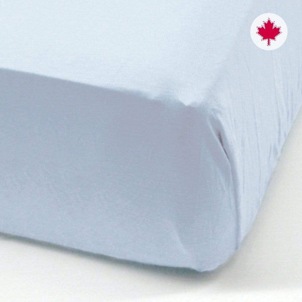 Crib flat sheet - bleu