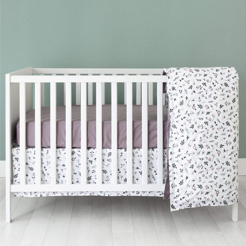 4 pieces crib set - floral