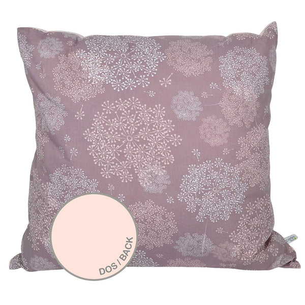 Large cushion - Plum dandelions
