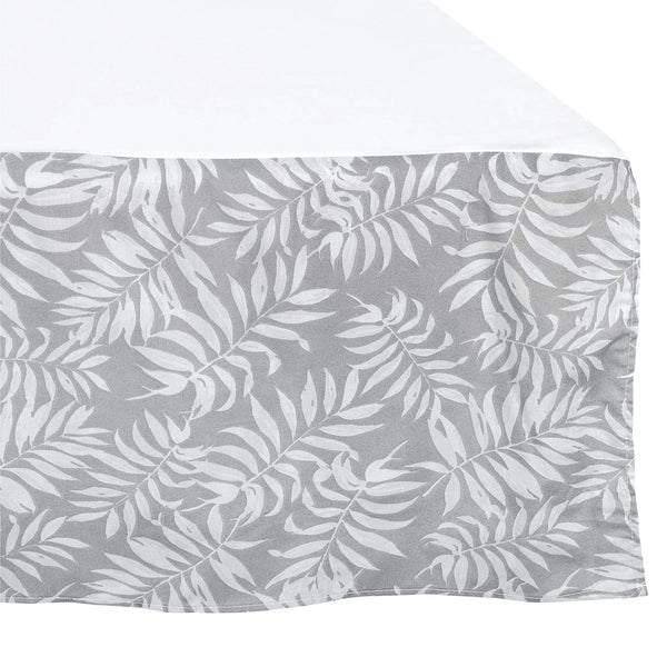 Crib bed skirt - Tropical grey
