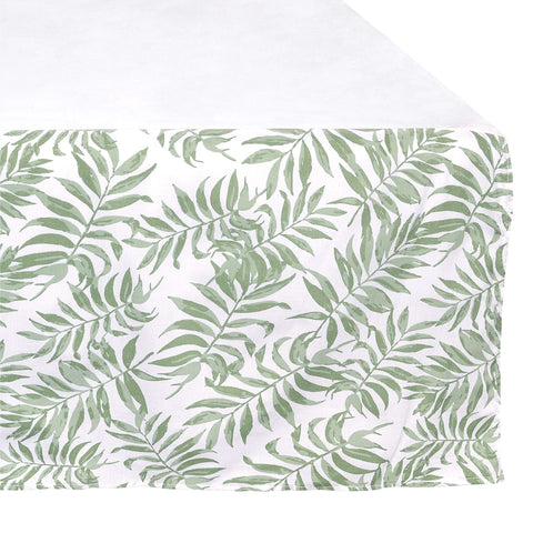 Crib bed skirt - Tropical green