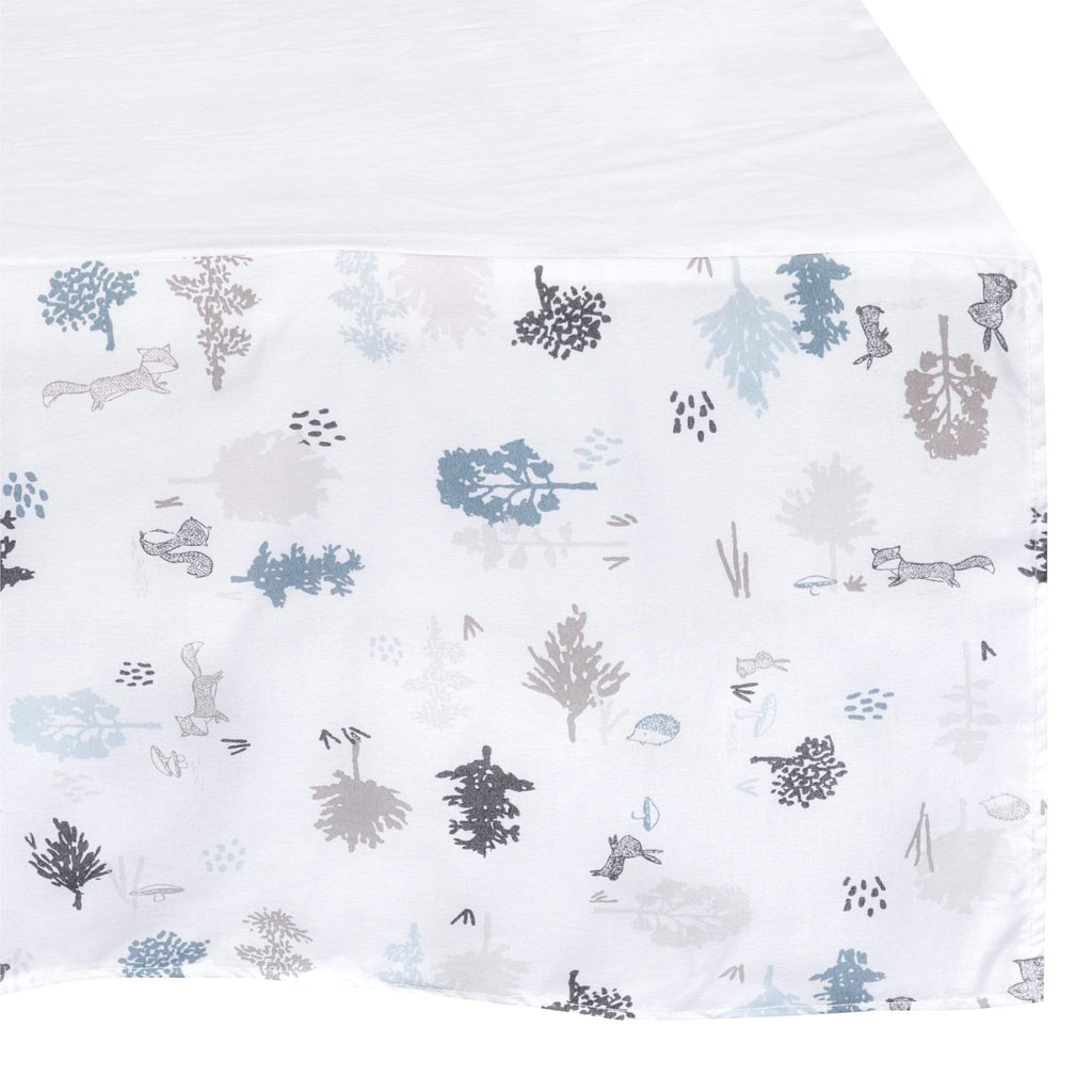 Crib bed skirt - forest