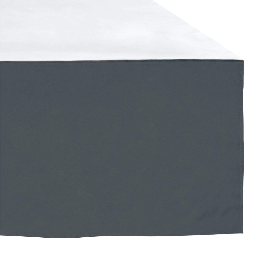 Crib bed skirt - charcoal