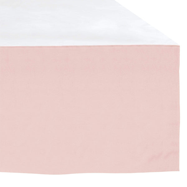 Crib bed skirt - pink