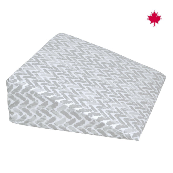 Wedge pillow - gray chevron