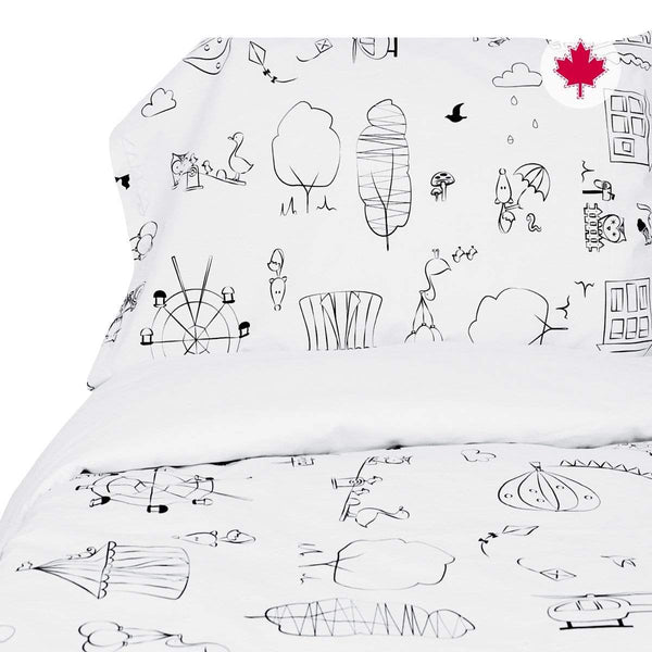 Twin duvet cover + pillow case - coloring fabric